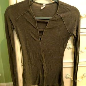 Free people basic long sleeve
